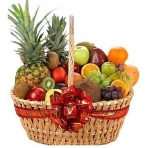 Большая подарочная корзина с фруктами R329